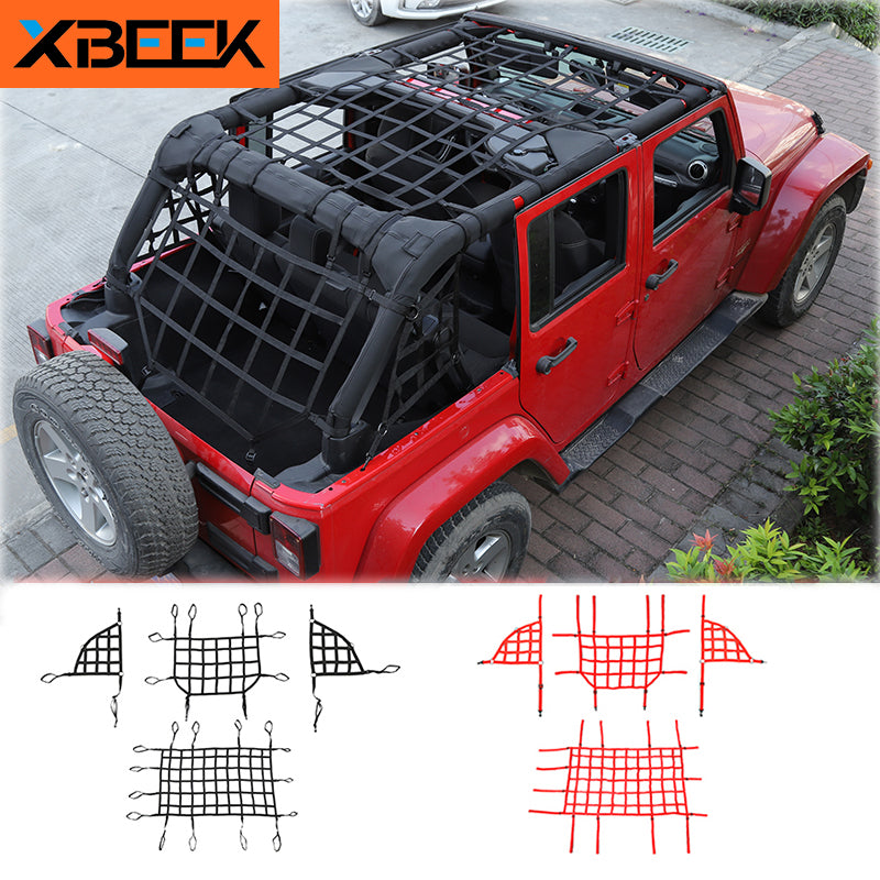 Car Trunk Roof Luggage Carrier Cargo Basket Trail Net for Jeep Wrangler JK JL 2007-20192020  by XBEEK