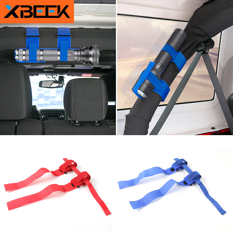 Electric Torch Flashlight Holder Bandage Interior for Jeep Wrangler TJ JK JL 1997-2019 2020 by XBEEK