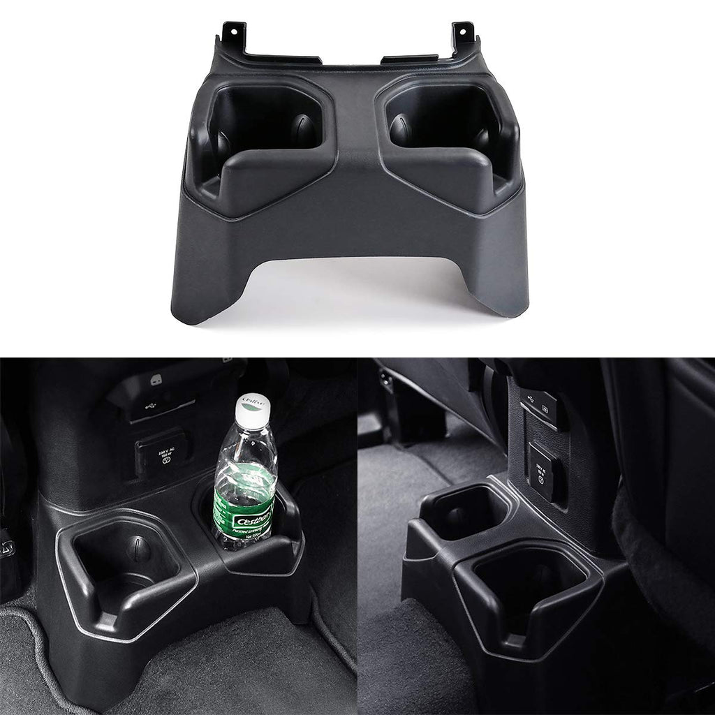 Rear Cup Holders Cap Rear Console Mounted Drink Holders for 2018-2020 Jeep Wrangler JL and Gladiator JT XBEEK