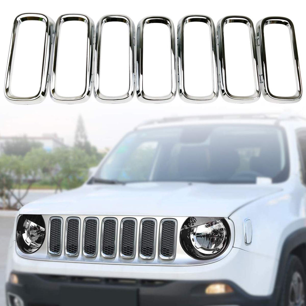 Chrome Front Grille Trim Insert Grill Guard fits Jeep Grand Cherokee 2017-2019