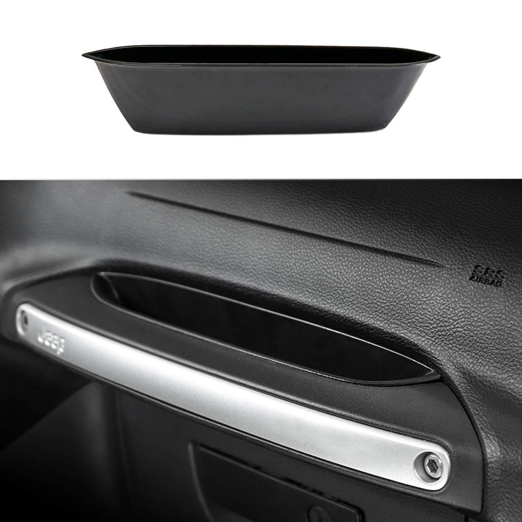Passenger Grab Handle Organizer Tray Storage Box for 2011-2018 Jeep Wrangler JK JKU by XBEEK
