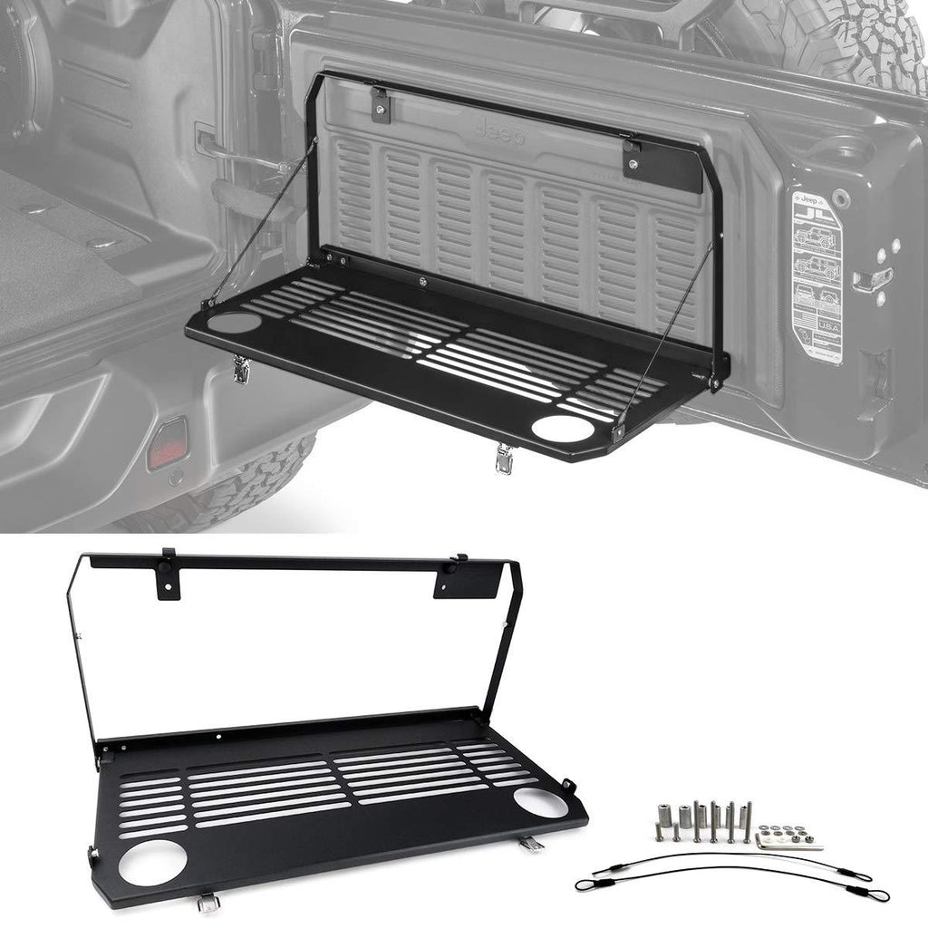 Tailgate Table Rear Door Folding Multi-Purpose Table for 2018 2019 2020 Jeep Wrangler JL by XBEEK