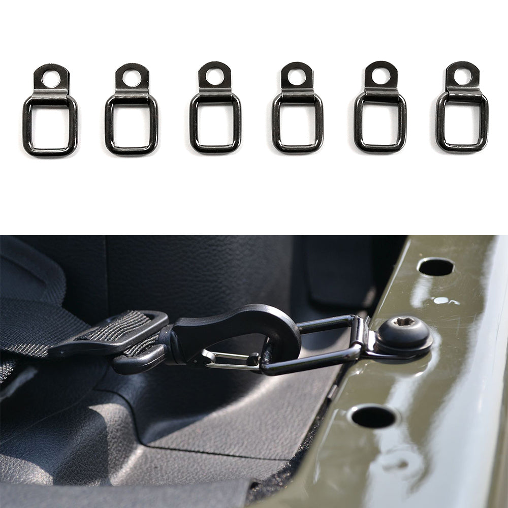 Trunk Tie-Down D-Rings Cargo Hook Receiver Connector for Jeep Wrangler TJ JK JL