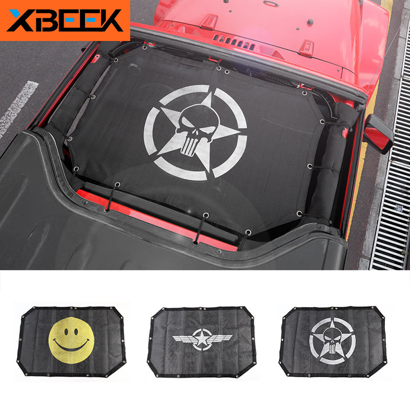 Top Mesh Sunshade Car Cover Roof UV Proof Protection Net for Jeep Wrangler JK 2-Door by XBEEK
