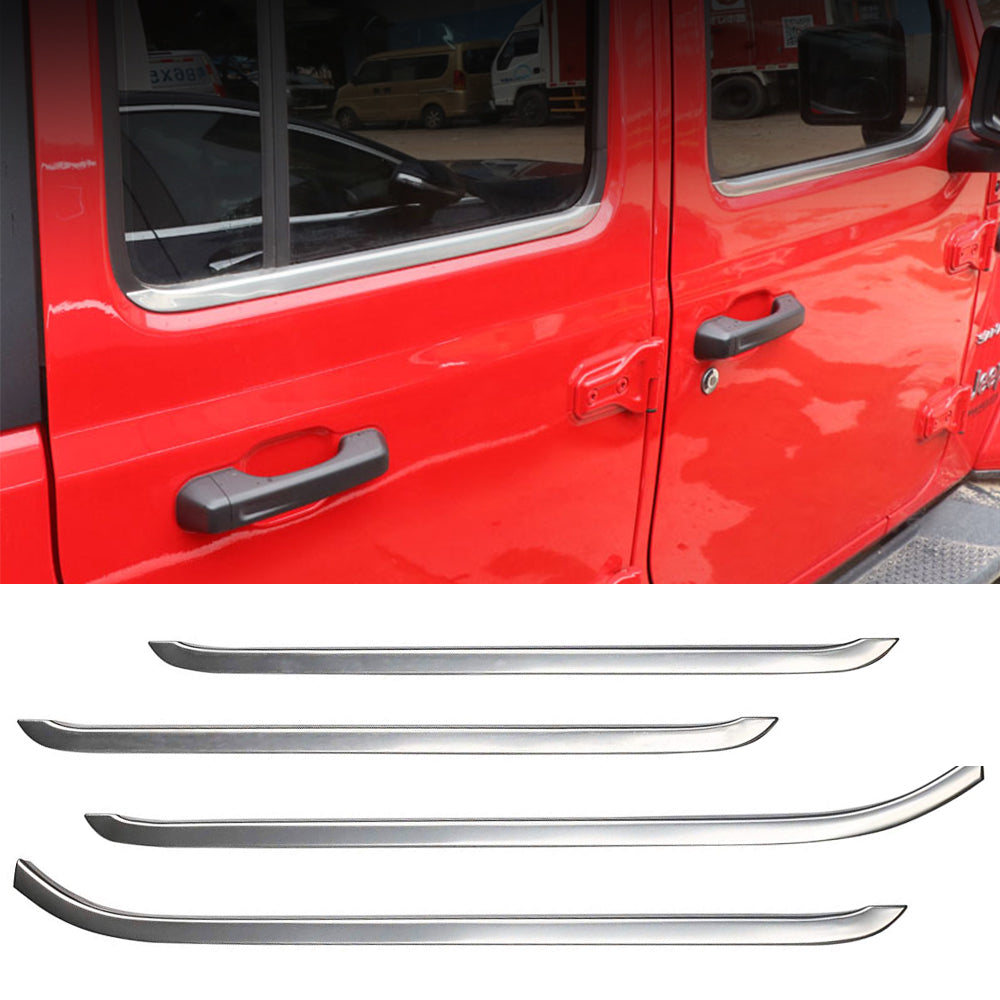 Door Window Frame Sill Cover Strip Trim Decoration for 2018-20 Jeep Wrangler JL