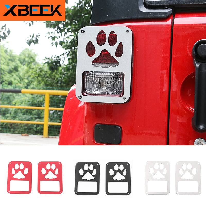 Tail Lamp Cover Rear Light Protecting Guard Brake Light Cover for Jeep Wrangler JK 2007+ by XBEEK