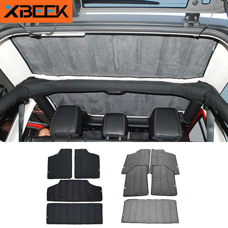 Interior Windows Roof Hardtop Heat Insulated Cotton Kit for Jeep Wrangler JK 2012-2016 by XBEEK