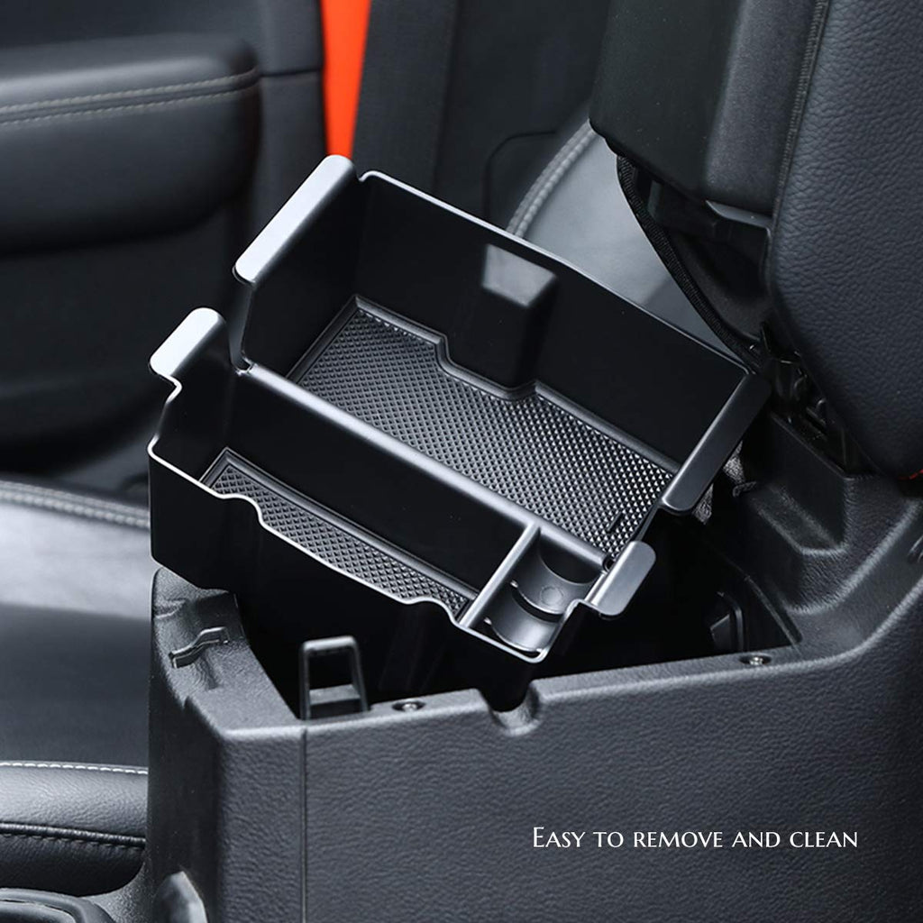 Armrest Storage Center Console Box Organizer Tray for 2018-2020 Jeep Wrangler JL Gladiator JT by XBEEK