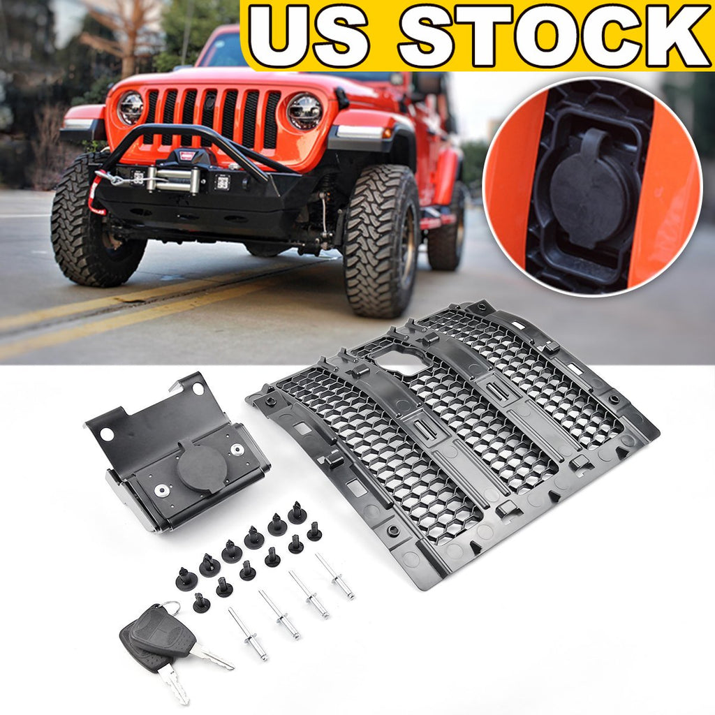 Hood Lock Anti-Theft Security Device Come with Key for 2018 2019 2020 Jeep Wrangler JL by XBEEK