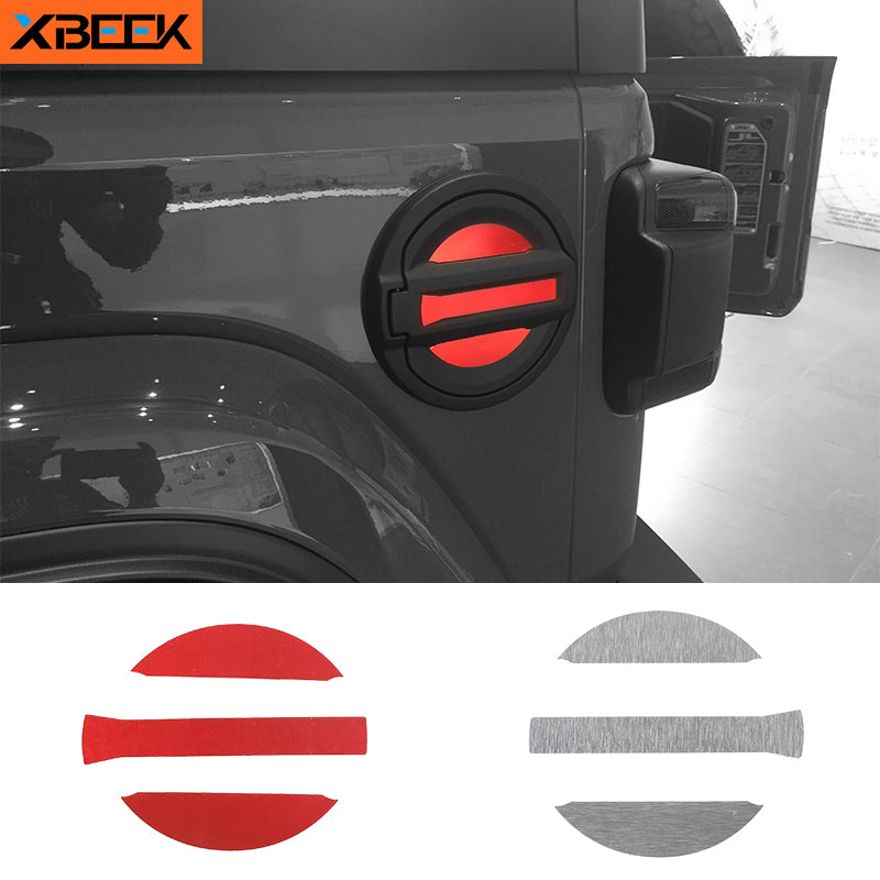 Gas Fuel Tank Cap Decoration Cover Trim Stickers for Jeep Wrangler JL 2018 2019 2020 by XBEEK