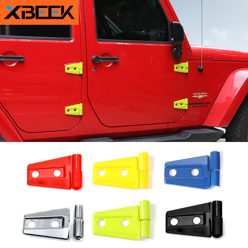 Door Hinge Cover Protector Trim Exterior Decoration for Jeep Wrangler CJ TJ JK by XBEEK