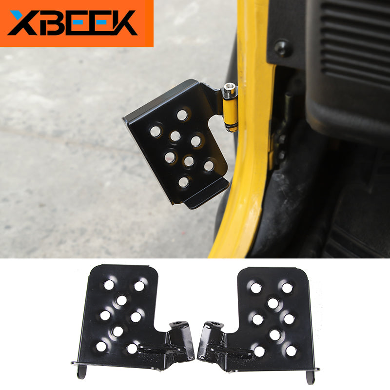 Side Door Board Step Foot Pedal Circular Hole Metal for 1997-2006 Jeep Wrangler TJ by XBEEK