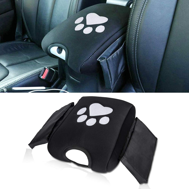 Center Console Armrest Pad Cover Dog Paws with Storage Bag for Jeep Wrangler JK 2011-2018 by XBEEK