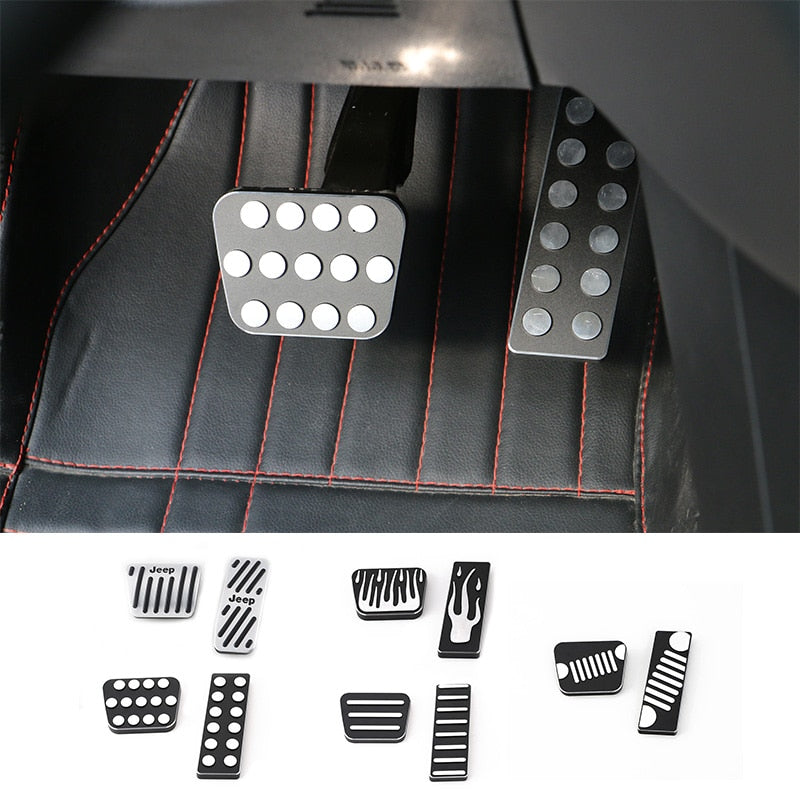Fuel Gas Brake Foot Pedal Pad Kit Cover Aluminium Alloy for Jeep Cherokee 2014-2016 by XBEEK