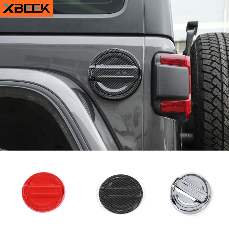 Gas Fuel Tank Cap Cover Tank Covers Sticker for Jeep Wrangler JL 2018 2019 2020 by XBEEK