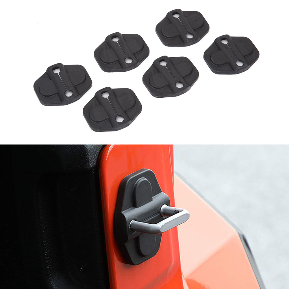 Door Lock Cover Latch Buckle Decor Trim for 18-20 Jeep Wrangler JL Gladiator JT