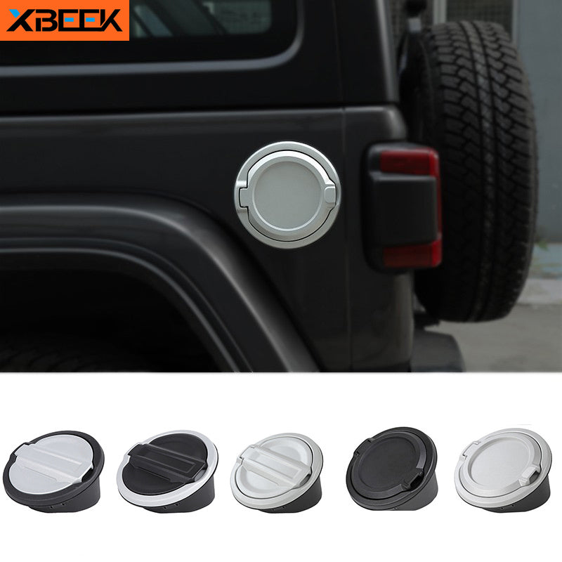 Gas Cap Cover Fuel Tank Cap Cover ABS+Aluminum Alloy for Jeep Wrangler JL 2018 2019 2020 by XBEEK
