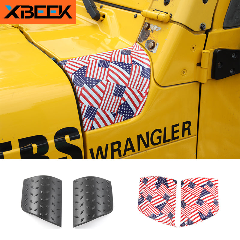 Hood Angel Wrap Cover Engine Decoration Sticker for Jeep Wrangler TJ 1997-2006 by XBEEK