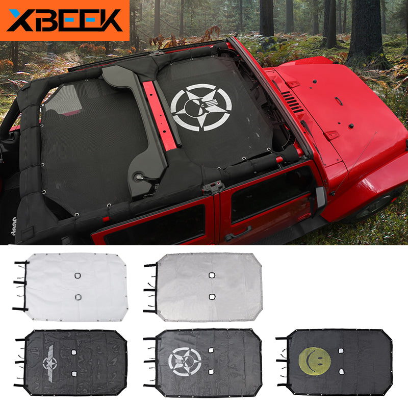 Top Sunshade Mesh Car Cover Roof UV Proof Protection Net for Jeep Wrangler JK 2007-2018 by XBEEK