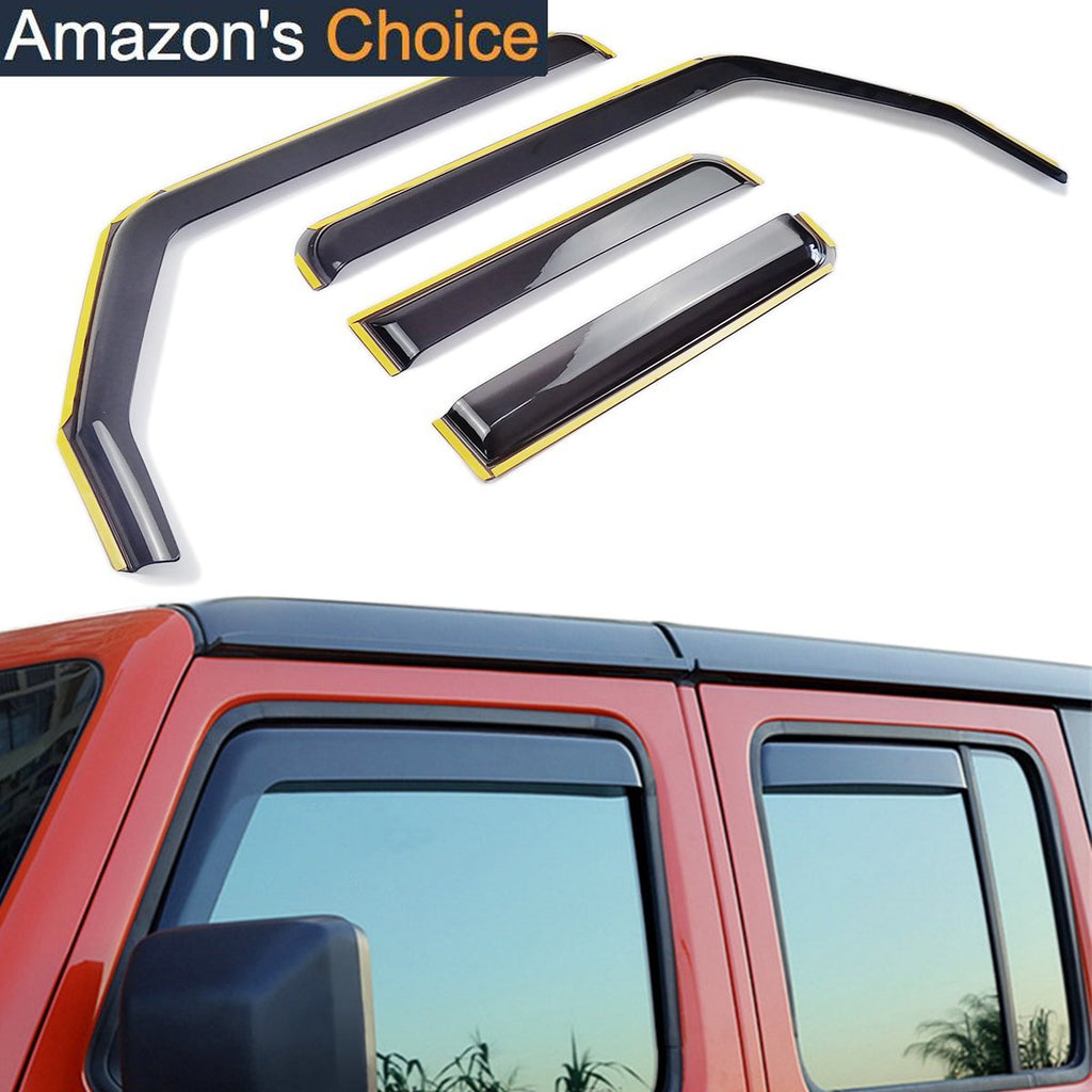 Side Window Deflector In-Channel Ventvisor for 2018-2020 Jeep Wrangler JL Gladiator JT by XBEEK