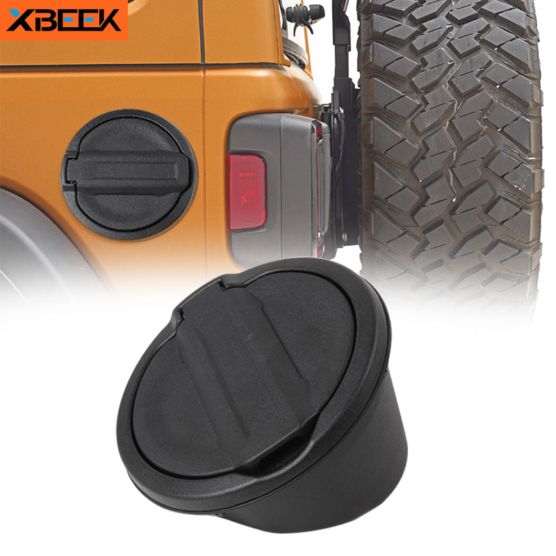 Gas Fuel Tank Cap Cover With Rubber Gasket Ring Decoration for Jeep Wrangler JL 2018 2019 2020 by XBEEK