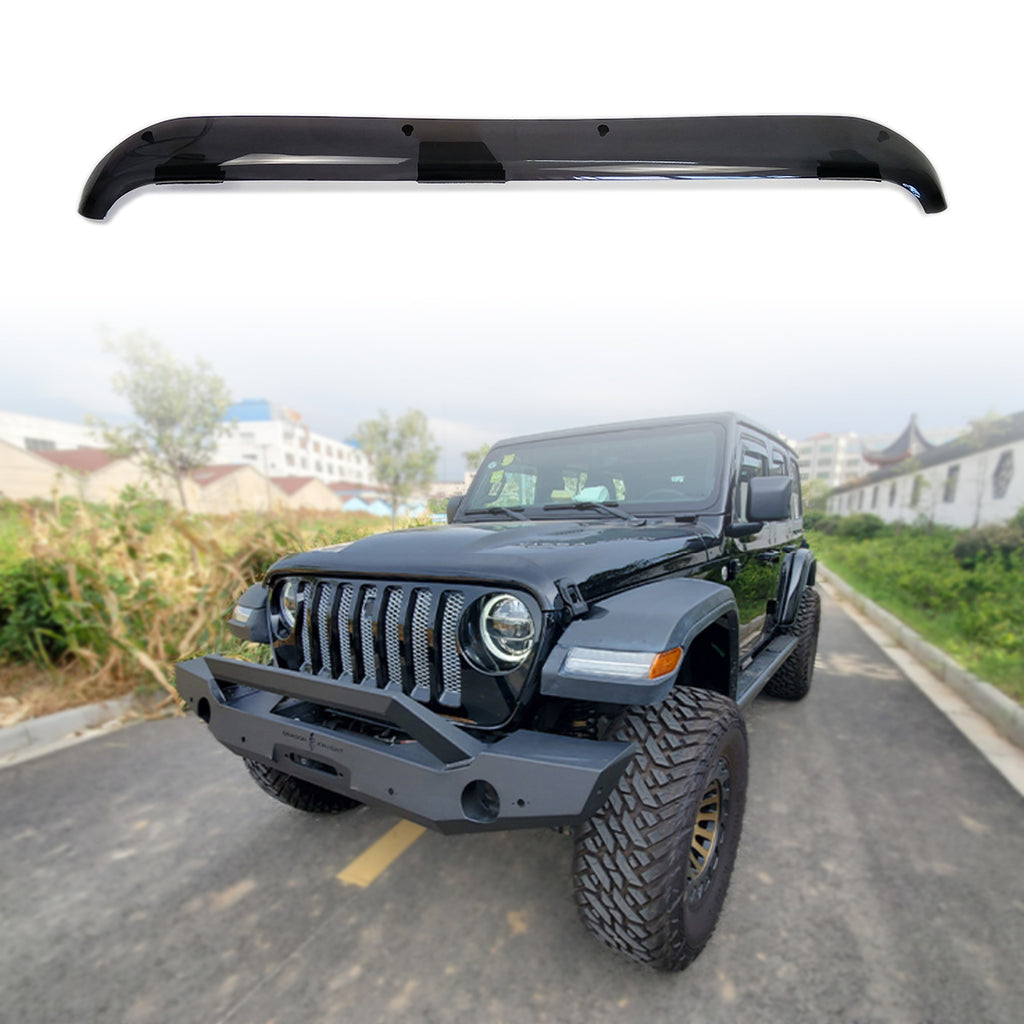 Front Hood Air Deflector Hood Windshield protector for 2018 2019 2020 Jeep Wrangler JL JLU by XBEEK