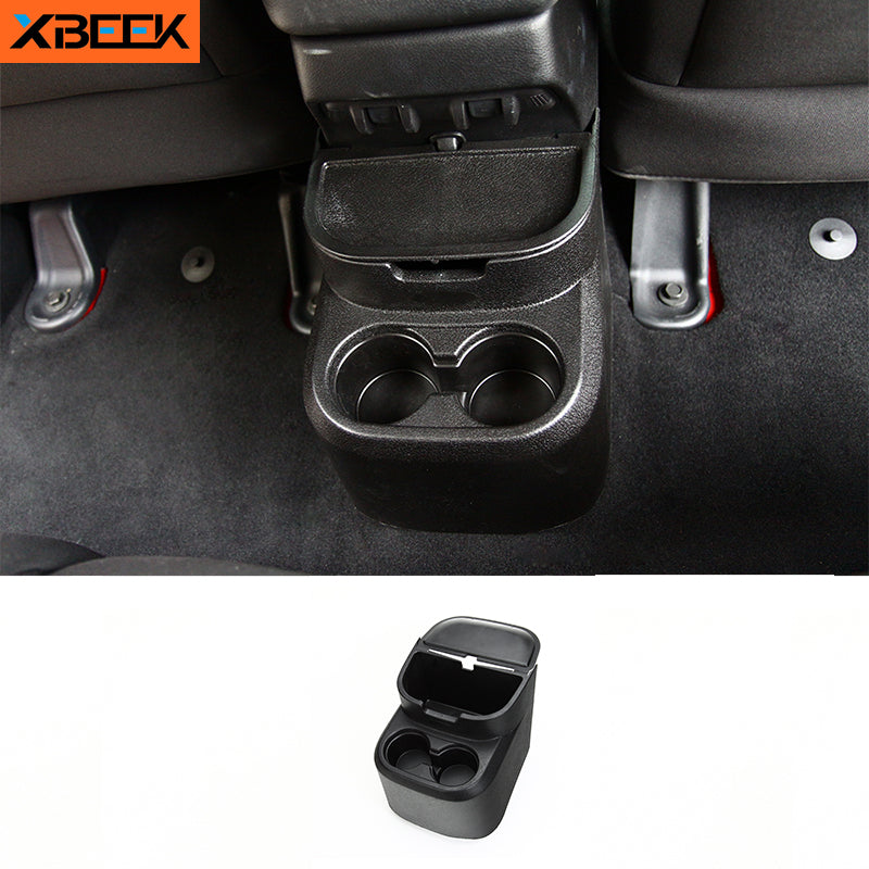 Drinks Holder Rear Storage Box Water Cup Holder for Jeep Wrangler JK 2011-2017 by XBEEK
