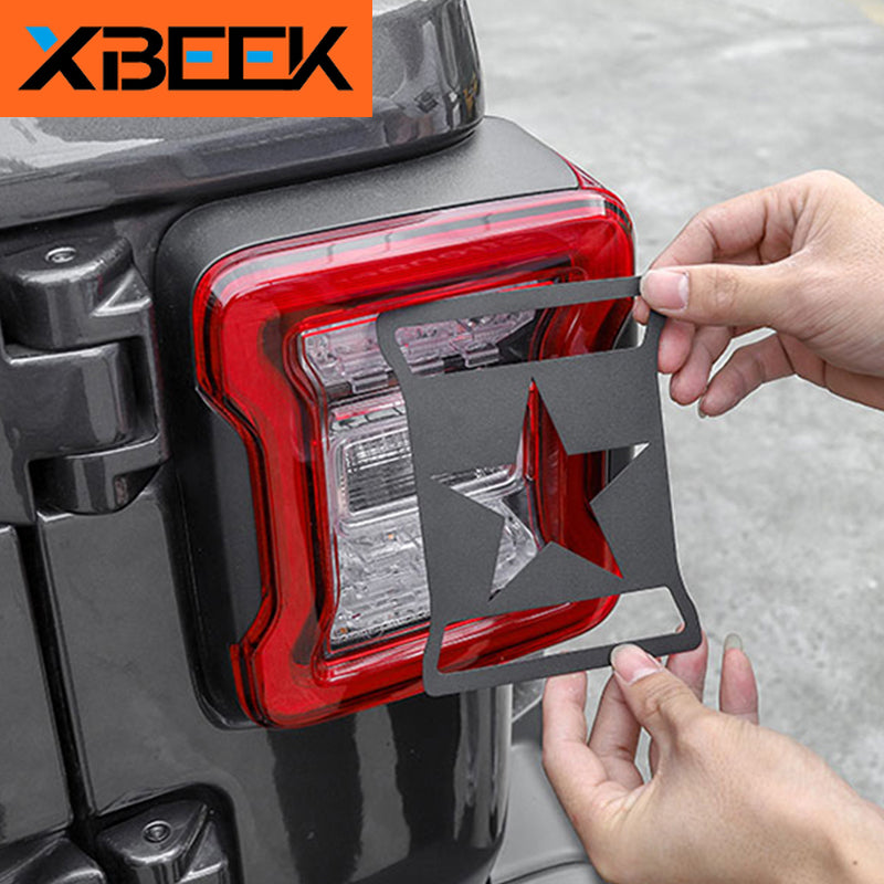 Metal Lamp Hoods Rear Tail Light Cover Decoration Guard for Jeep Wrangler JL 2018 2019 2020 by XBEEK