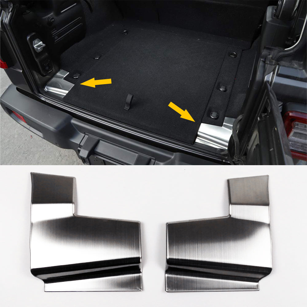 Trunk Guard Cover Trim Rear Tail-gate Decoration Accessories for 18+ Wrangler JL