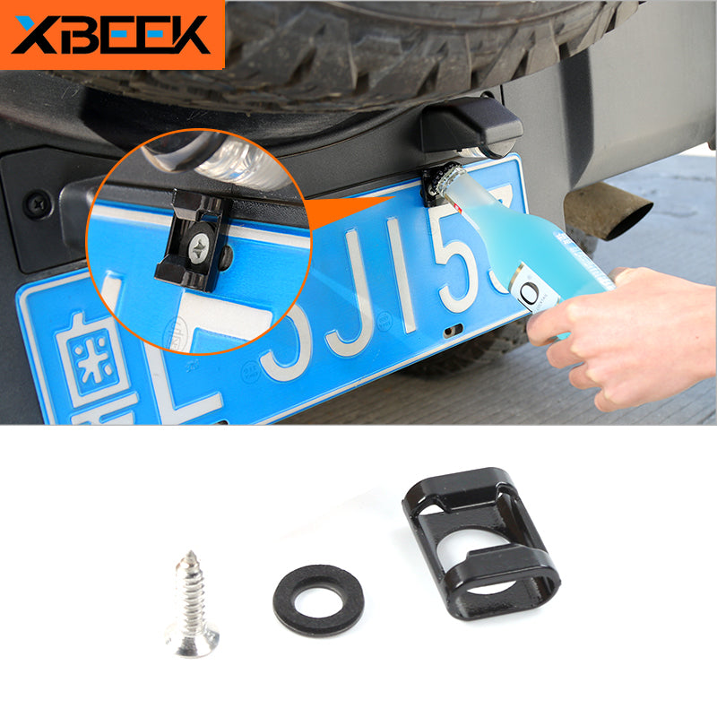 Screws Suitable Beer Bottle Opener Rear License Plate Mounted for Jeep Wrangler TJ JK by XBEEK