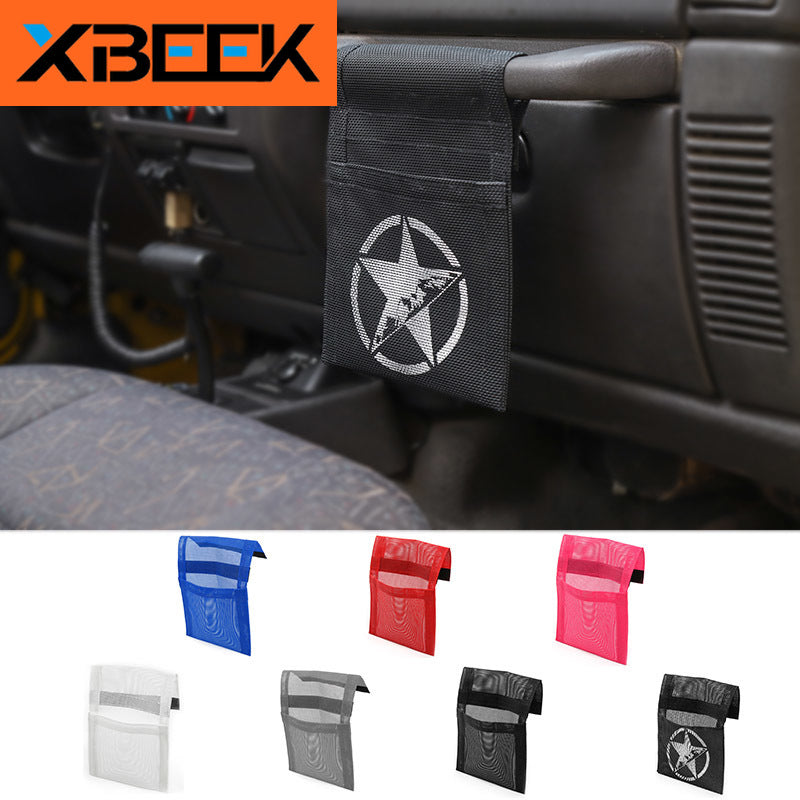 Copilot Armrest Handle Storage Bag Stowing Tidying for Jeep Wrangler TJ 1997-2006 by XBEEK
