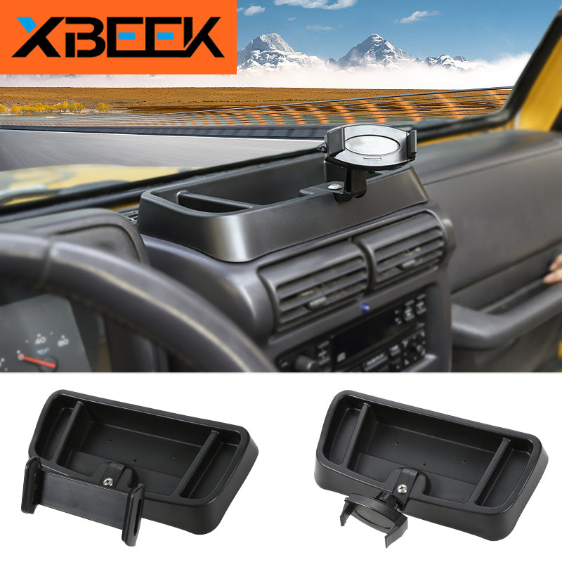 ABS Mobile Phone Holder Stand Bracket Storage Box Sticker for Jeep Wrangler TJ 1997-2006 by XBEEK