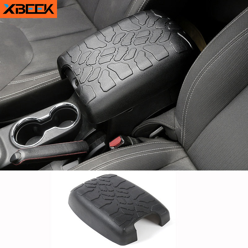 Center Console Seat Armrests Box Pad Rubber Mat Guard Cover for 2012-2017 Jeep Wrangler JK by XBEEK