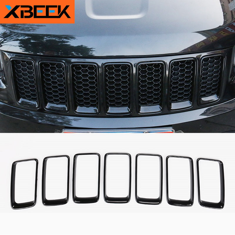 Front Grille Grill Insert Decorative Cover Original Model for Jeep Grand Cherokee 2014-2019 by XBEEK