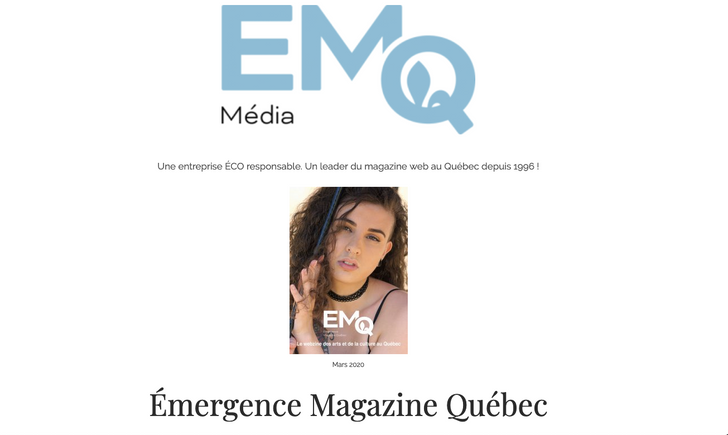 Feature in Emergence Magazine Quebec