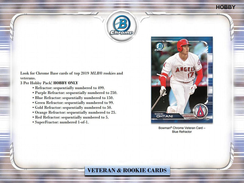 2019 Bowman Chrome Baseball Hobby