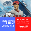 2018 Topps Chrome Jumbo Random Team Break