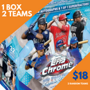 2020 Topps Chrome Sapphire Update Baseball 1 Box Random Team Break (2 Teams)