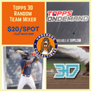 2020 Topps 3D Random Team Break (12 Packs)