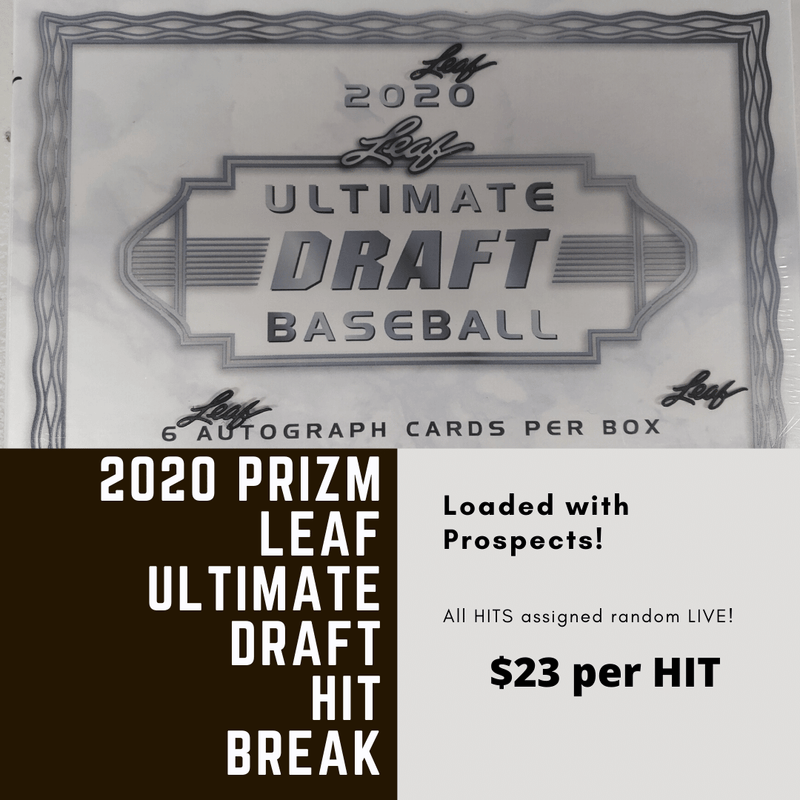2020 Leaf Ultimate Draft Baseball 1 Hobby Box Random HIT Break