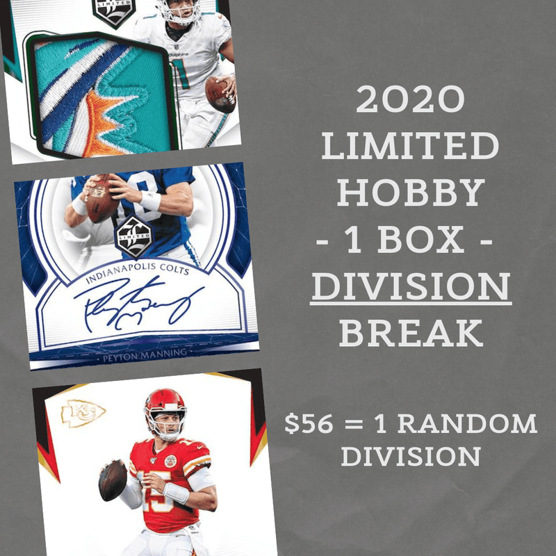2020 Limited Football 1 Hobby Box Random Division Break