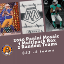 2020 Mosaic Football 1 Multi Pack Box Random Team Break (2 Teams)