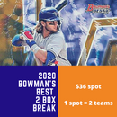 2020 Bowman's Best Baseball Hobby 2 Box Random Team Break (2 Teams)