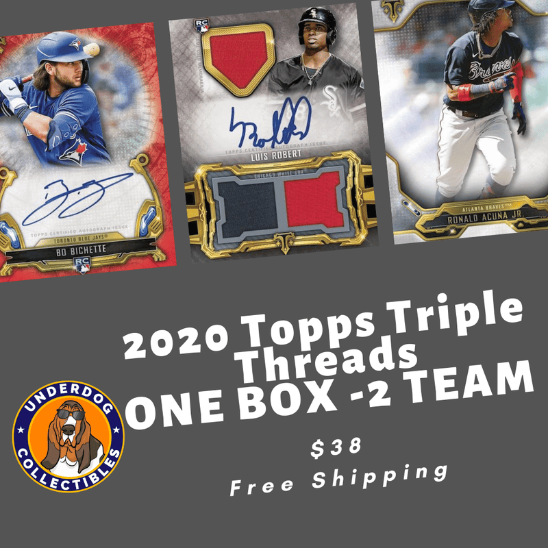 2020 Triple Threads Baseball 1 Box Random Team Break (2 Teams)