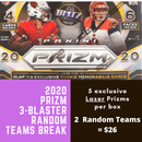 2020 Prizm Football 3 Blaster (Lazer) Box Random Team Break (2 Teams)
