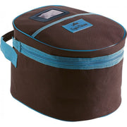 Equi-Theme Helmet Bag Chocolate and Turquoise