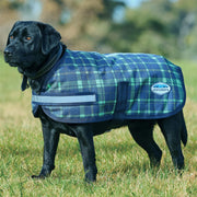 Weatherbeeta Parka 1200D Dog Coat Navy/Lime Plaid 45CM