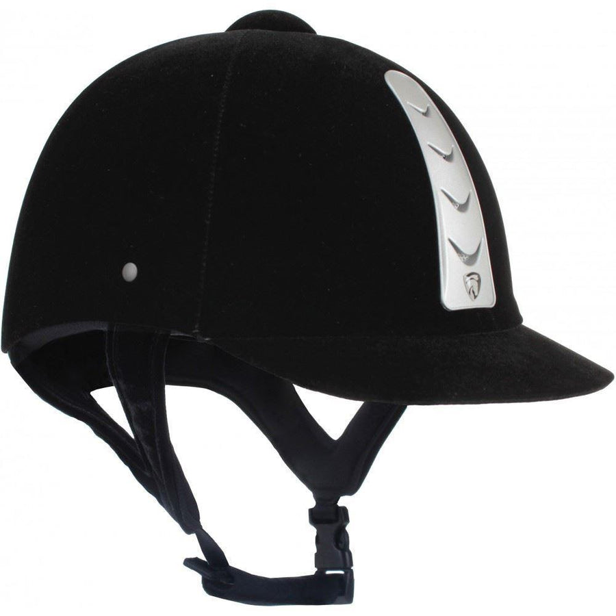 Red Horse Hawk Velvet Safety Helmet Black