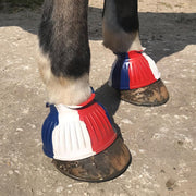 White Horse Equestrian Flex Overreach Boots Red/White/Blue