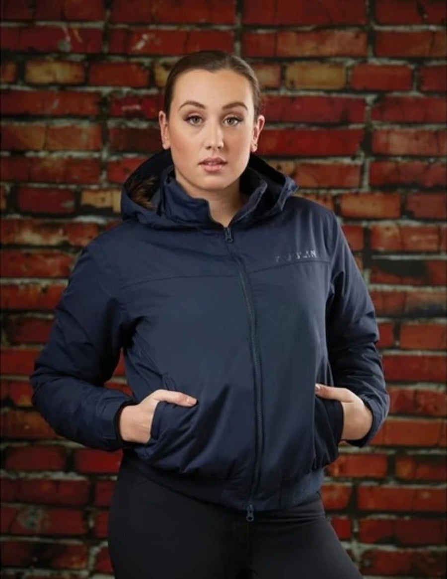 Dublin Trinity Ladies Waterproof Blouson Country Winter Jacket Navy